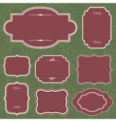 Christmas frame set vector image