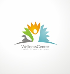 Wellness center logo design concept vector