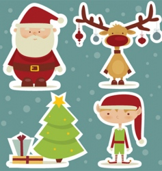 Christmas sticker vector