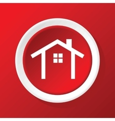 House contour icon on red vector