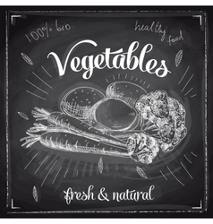 Hand drawn with vegetables vector