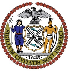 New York City Seal vector image
