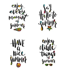 Summer holidays calligraphy greetings vector