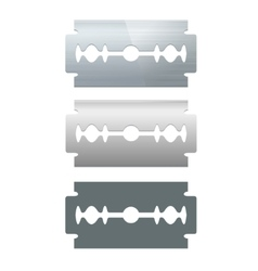 Razor blade set vector