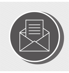 Symbol of envelope blue isolated icon design vector