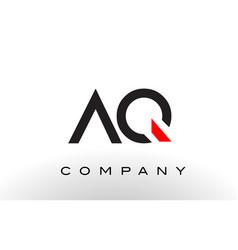 aq logo letter design vector image vector image