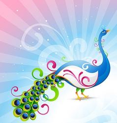 Artistic peacock vector