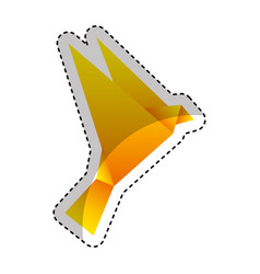 bird low poly style vector image
