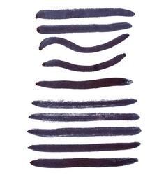 Black ink brush strokes vector image vector image