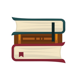 Books placed in roll vector