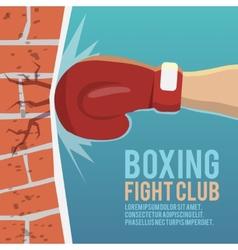Boxer gloves hitting poster vector image