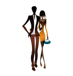 Couple standing together vector image
