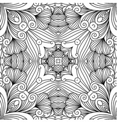 decorative zentangle swirl pattern vector image vector image