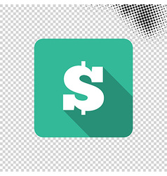 Dollar money icon vector