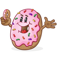 Donut Cartoon Character vector image vector image