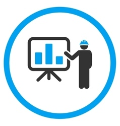 Engineer lecture icon vector