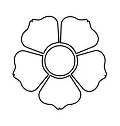 Figure flower with squre petals icon vector