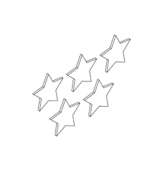 Five stars icon isometric 3d style vector