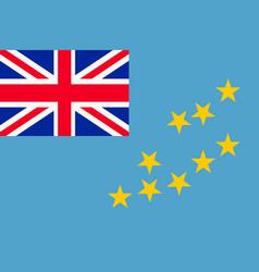 flag of tuvalu vector image