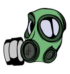 Gas mask icon cartoon vector
