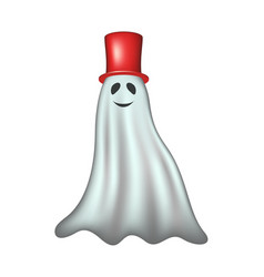 Ghost with red hat vector
