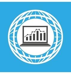Globe computer statistics graphic communication vector