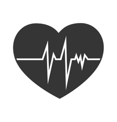 Heart cardiology line icon graphic vector