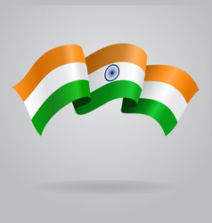 Indian waving flag vector