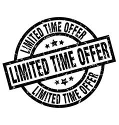 Limited time offer round grunge black stamp vector