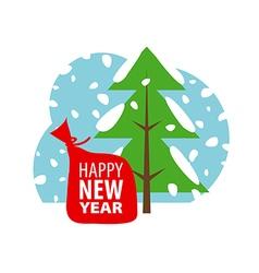 logo Christmas winter landscape vector image vector image