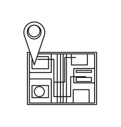 Map pin location vector