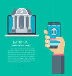 mobile banking vector image vector image