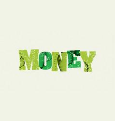 money concept stamped word art vector image vector image