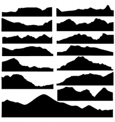 Mountain set vector