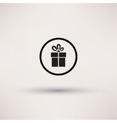 Pictograph of gift icon Template for design vector image vector image