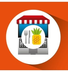 Pineapple online shopping app vector