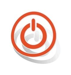 Power sign sticker orange vector