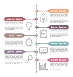 Process diagram template vector