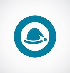 Santas hat icon bold blue circle border vector