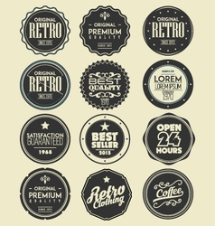 set of retro labels badges vector image vector image