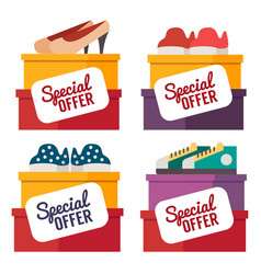 shoes sale shopping vector image vector image