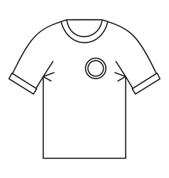 T shirt uniform team icon outline style vector