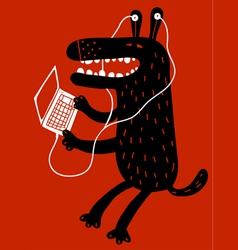 Technology dog vector