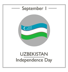 Uzbekistan independence day vector