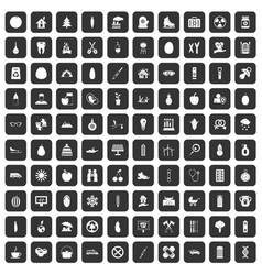 100 child health icons set black vector
