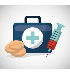 Medical concept set icons vector