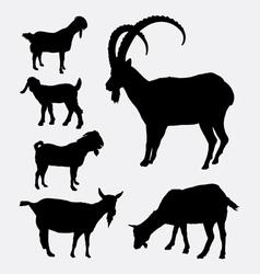 Goat pet animal silhouette vector