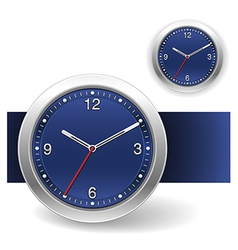 Blue clock icons vector
