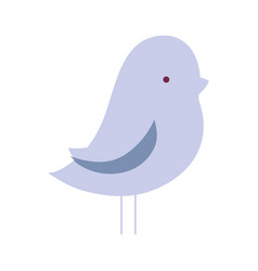 Nice bird dove animal with wings design vector