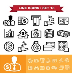 Line icons set 18 vector